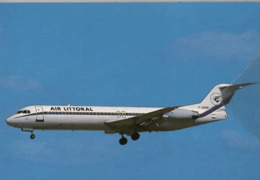 Air France Air Littoral Airlines Fokker F-100 F-GIDM  Airways AirFrance Airplane Franch - 1946-....: Era Moderna