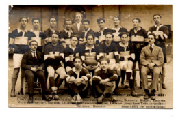 Aix En Provence Saint Eloi Sportif Equipe Rugby 1922 1923  Tirage Carte Photo Amiel - Aix En Provence