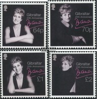 Gibraltar 1815-1818 (complete Issue) Unmounted Mint / Never Hinged 2017 Princess Diana - Gibraltar