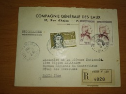 Lettre Recommandée Pour PARIS - Marcophilie (Lettres)