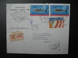 Lettre Recommandée R198 à Entête Cabinet Amadou Lamine SAAR  1973 Sénégal Dakar Pour La Sté Générale En  France Paris - Sénégal (1960-...)