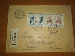 Lettre Recommandée Pour TOULOUSE - Marcophilie (Lettres)
