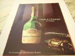 ANCIENNE PUBLICITE COMTE DE CHAMPAGNE DE TAITTINGER 1980 - Publicités
