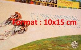 Reproduction D'une Photographieancienne D'une Affiche Publicitaire Motos Continental Tyres De 1920 - Reproductions