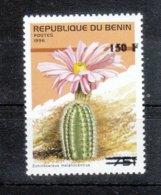 Benin 2000**, Freimarken Mit Überdruck, Kaktus Echinocereus / Benin 2000, MNH, Definitives With Overprint, Cactus - Sukkulenten