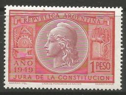 Argentina - 1949 Constitution Day MNH **   Sc 585 - Argentina