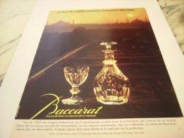 ANCIENNE PUBLICITE MAISON BACCARAT  1980 - Autres