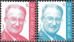 Belgium 3100-3101 (complete Issue) Unmounted Mint / Never Hinged 2002 King Albert II. - Belgium