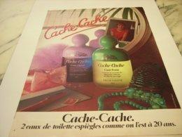 ANCIENNE PUBLICITE EAU DE TOILETTE CACHE CACHE 1980 - Perfume & Beauty