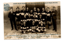 Aix En Provence Saint Eloi Sportif Equipe Rugby 1921 1922 Tirage Carte Photo Ely - Aix En Provence