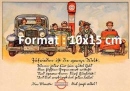 Reproduction D'une Photographieancienne D'une Affiche Publicitaire Standard Petrol De 1920 - Riproduzioni