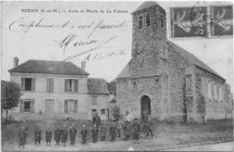 77 CPA LA TRETOIRE ECOLE ET MAIRIE PRES DE REBAIS - France