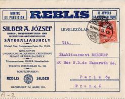 A002 Carte Lettre De Silber A. Jozsef Du 15-05-1931 (date De La Flamme) Postée  à  Sátoraljaújhely En Hongrie - Collezioni