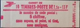 R1703/725 - TYPE SABINE - CARNET NEUF** Fermé N°2059-C2 - Markenheftchen