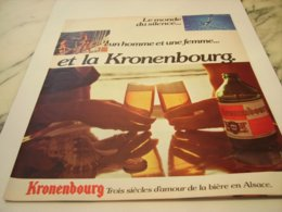 ANCIENNE  PUBLICITE SILENCE HOMME FEMME   KRONENBOURG 1975 - Afiches