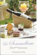 """Carte Pub Hôtel-Restaurant """"La Sommellerie"""", CHATEAUNEUF-du-PAPE (84) - Hotels & Restaurants"""