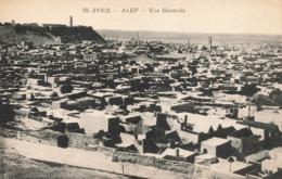 Syrie Alep Vue Générale , Cpa Carte Ecrite En 1924 - Syrie