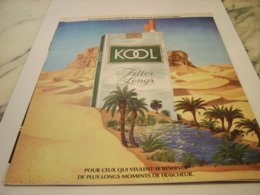 ANCIENNE PUBLICITE CIGARETTE KOOL MENTHOL 1975 - Tabac (objets Liés)