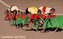 Reproduction D'une Photographieancienne D'une Affiche Publicitaire Continental Cycles Tyres De 1912 - Reproductions