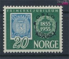 Norwegen 393 Mit Falz 1955 Briefmarkenausstellung (9339752 - Ungebraucht