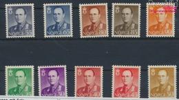 Norwegen 418-427 (kompl.Ausg.) Mit Falz 1958 König Olaf V. (9339748 - Ungebraucht