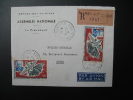 Lettre R 1341  à Entête République Du Niger Assemblée Nationale Le Président 1970 Niamey  Pour La Sté Générale En France - Niger (1960-...)