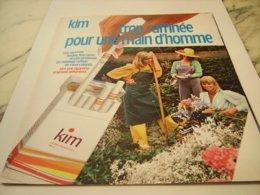 ANCIENNE PUBLICITE  CIGARETTE KIM  1975 - Tobacco (related)