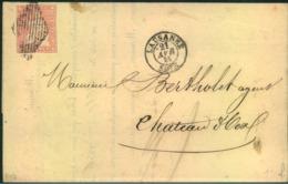 "1856, Kompletter Faltbrief Der ""Banque Cantonale"" In LAUSANNE Mit 15 Rp Strubel, Berner Druck, - 1854-1862 Helvetia (Non-dentelés)"