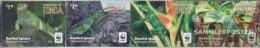 Tonga 2102-2105 Quad Strip (complete Issue) Unmounted Mint / Never Hinged 2016 Kurzkammleguan - Tonga (1970-...)