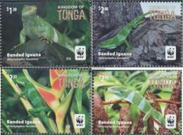Tonga 2102-2105 (complete Issue) Unmounted Mint / Never Hinged 2016 Kurzkammleguan - Tonga (1970-...)