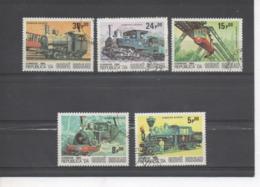GUINEE-BISSAU - Locamotives Anciennes - Trains - Chemin De Fer - Transport - Guinea-Bissau