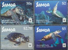 Samoa 1352-1355 (complete Issue) Unmounted Mint / Never Hinged 2016 Real Karettschildkröte - Samoa