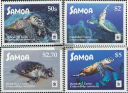 Samoa 1348-1351 (complete Issue) Unmounted Mint / Never Hinged 2016 Real Karettschildkröte - Samoa