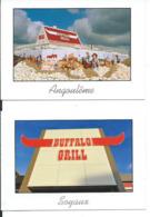 "2 X Carte Pub Restaurant "" BUFFALO GRILL "", ANGOULEME (16), SOYAUX (16) - Hotels & Restaurants"