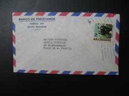 Lettre à Entête Banco De Prestamos  Quito - Ecuador  Equateur   Pour La Sté Générale En France   Bd Haussmann   Paris - Equateur