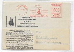 REICH - 1939 - EMA (SAUERSTOFFWERKE) Sur CARTE De HÖLLRIEGELSKREUTH Bei MÜNCHEN - Poststempel - Freistempel