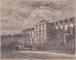 75. PARIS. L'Ecole Normale Supérieure. Vue Extérieure & Vue Intérieure. 1873 - Vieux Papiers