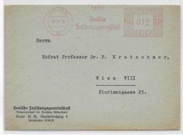 REICH - 1938 - EMA (FORSCHUNGSGEMEINSCHAFT) Sur ENVELOPPE De BERLIN - Marcofilia - EMA ( Maquina De Huellas A Franquear)