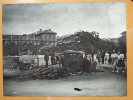 CAMION CALCINE QUAIS DE SEINE ? LIBERATION DE PARIS GUERRE WW2 PHOTO DE PRESSE 24 X 18 Cm PHOTO PRESSE LIBERATION - Guerre, Militaire
