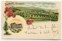 RC 13803 SUISSE SOUVENIR DE GIMEL HOTEL DES BAINS TB - VD Vaud