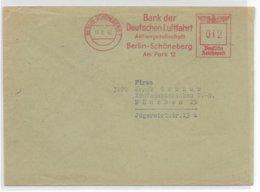 REICH - 1943 - EMA (BANK Der LUFTFAHRT) Sur ENVELOPPE De BERLIN - Marcofilia - EMA ( Maquina De Huellas A Franquear)