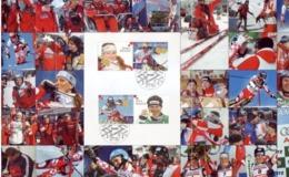 IVICA AND JANICA KOSTELIC-St. MORITZ-FIRST DAY SOUVENIR CARD-CROATIA-2003 - Ski