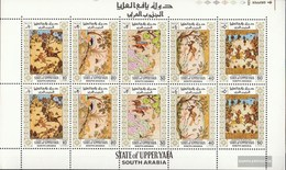 Aden - Upper Yafa 50A-54A Sheetlet (complete Issue) Unmounted Mint / Never Hinged 1967 Persian Miniatures - Yemen
