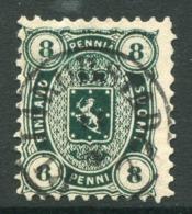 FINLAND 1875 8 P. Deep Green On Medium Paper, Used. Michel 14 Ayc - 1856-1917 Administración Rusa