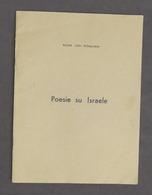 Letteratura - Gilda Levi Pitigliani - Poesie Su Israele - 1^ Ed. 1980 Ca. - Libri, Riviste, Fumetti