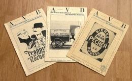 """Rare """"Les Amis Du Verre à Bière Et Des Brasseries Anciennes """" N°17, 19, 20; 1989 - Brocantes & Collections"""