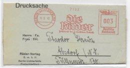 REICH - 1943 - EMA (DIE RÄDER) Sur LETTRE De BERLIN - Marcofilia - EMA ( Maquina De Huellas A Franquear)
