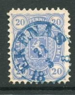 FINLAND 1875  20 P. Perforated 11 On Medium Paper Used With Blue Ekenas Postmark.  Michel 16Ayb - Gebraucht