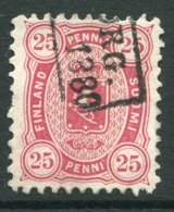 FINLAND 1879  25 P. Perforated 11 On Medium Paper Used.  Michel 17 Aya - Used Stamps