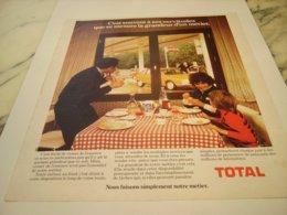 ANCIENNE PUBLICITE GRANDEUR D UN METIER TOTAL 1975 - Other